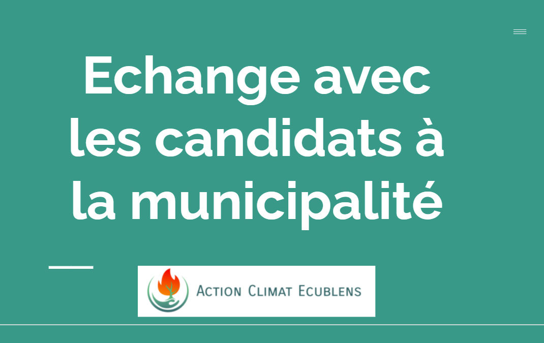 ACE débat avec les candidats à la municipalité